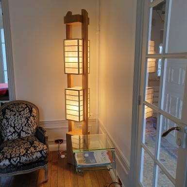 Shoji Lighting 25x25cm Hauteur=210 cm